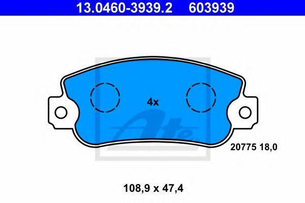 Колодки тормозные ATE 13046039392