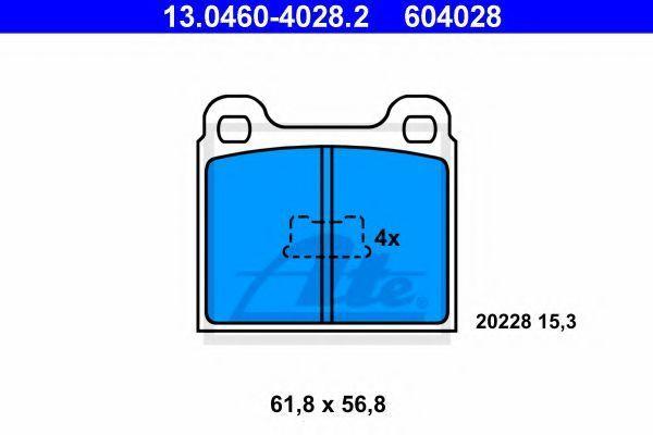 Колодки тормозные ATE 13.0460-4028.2