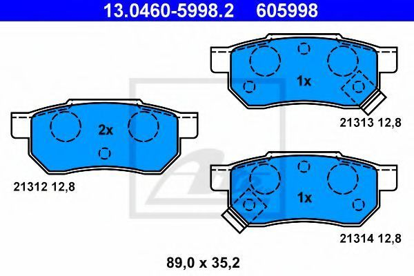 Колодки тормозные ATE 13046059982