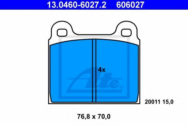 Колодки тормозные ATE 13046060272