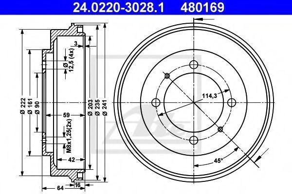 Тормозной барабан ATE 24022030281