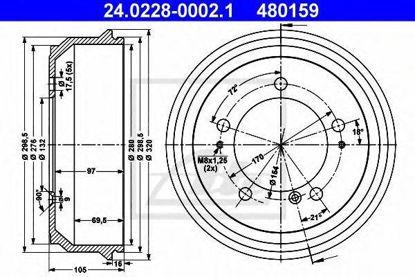 Барабан тормозной ATE 24.0228-0002.1