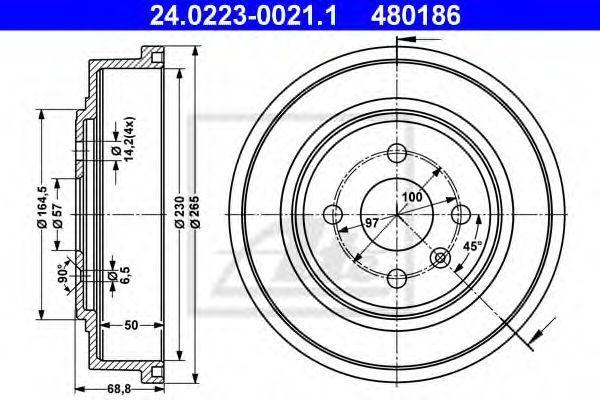 Барабан тормозной ATE 24.0223-0021.1