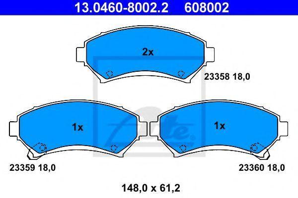 Колодки тормозные ATE 13046080022