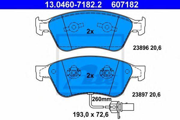 Купить Колодки тормозные ATE 13046071822