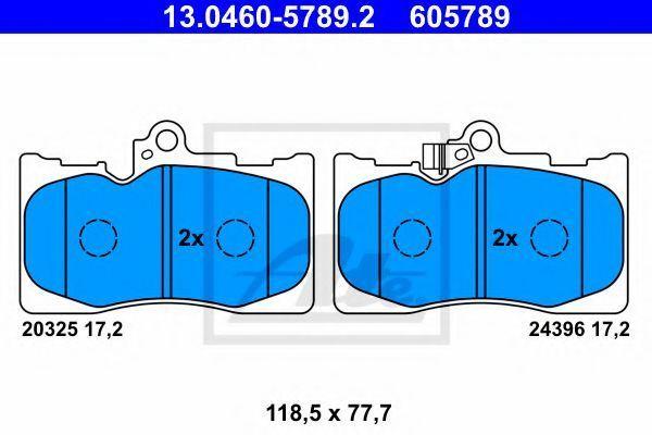 Колодки тормозные ATE 13046057892