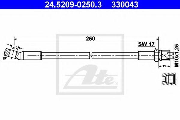 Шланг тормозной ATE 24.5209-0250.3
