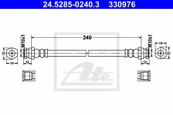 Тормозной шланг ATE 24528502403