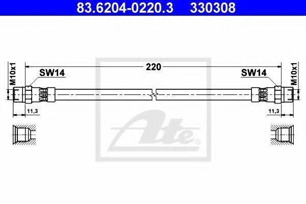 Тормозной шланг ATE 83620402203