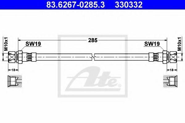 Тормозной шланг ATE 83626702853