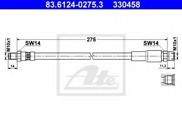 Шланг тормозной ATE 83612402753