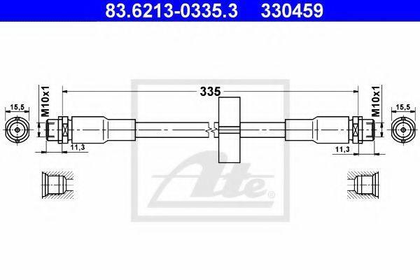 Шланг тормозной ATE 83621303353