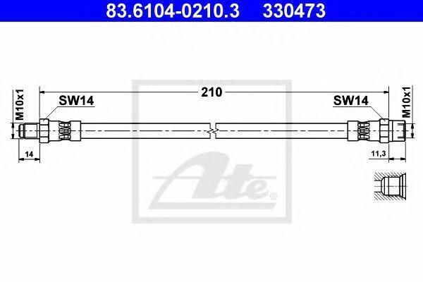 Тормозной шланг ATE 83610402103