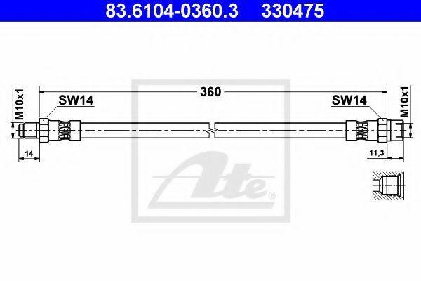 Шланг тормозной ATE 83610403603