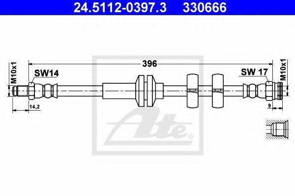 Шланг тормозной ATE 24511203973