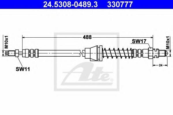 Шланг тормозной ATE 24530804893