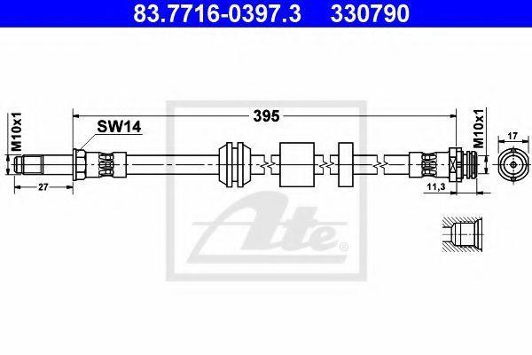 Шланг тормозной ATE 83771603973