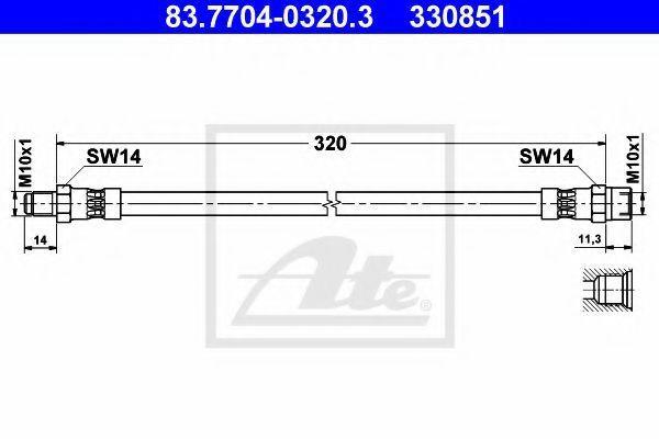 Тормозной шланг ATE 83770403203