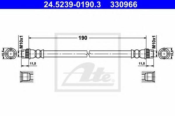 Тормозной шланг ATE 24523901903