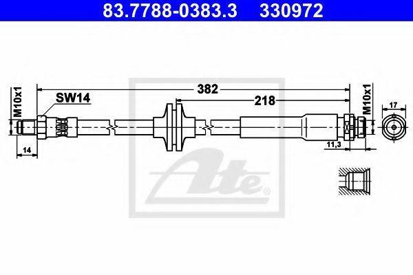 Тормозной шланг ATE 83778803833