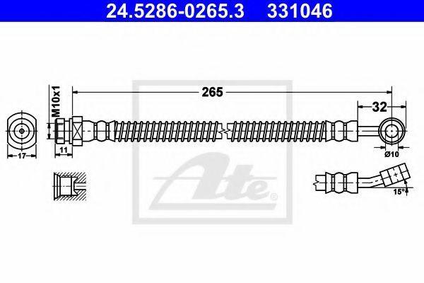 Шланг тормозной ATE 24528602653