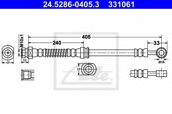 Тормозной шланг ATE 24528604053