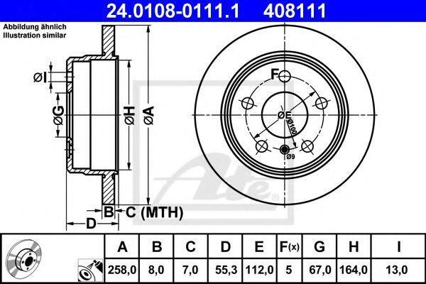 Диск тормозной ATE 24010801111
