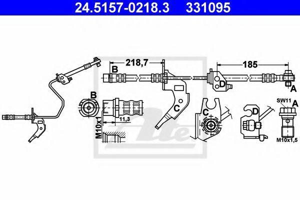 Шланг тормозной ATE 24515702183