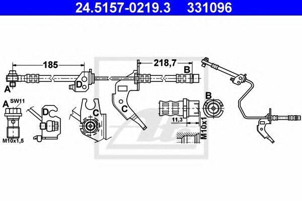 Шланг тормозной ATE 24515702193