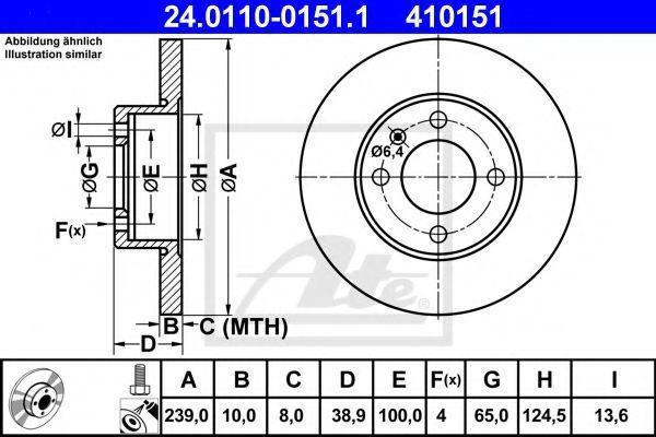 Диск тормозной ATE 24.0110-0151.1