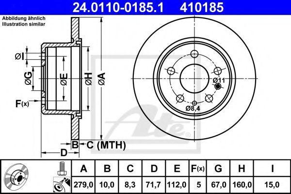 Диск тормозной ATE 24.0110-0185.1