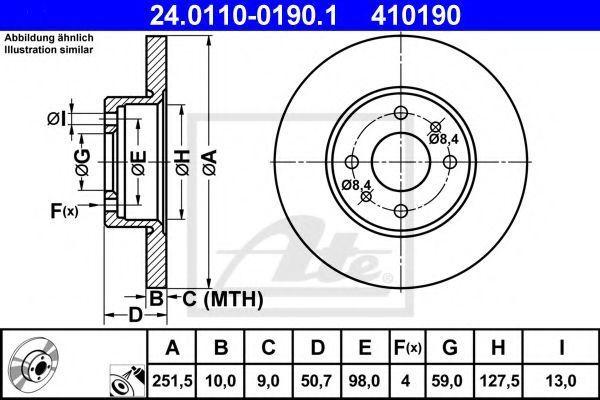 Диск тормозной ATE 24.0110-0190.1