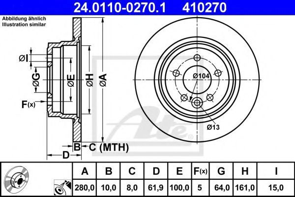 Диск тормозной ATE 24.0110-0270.1