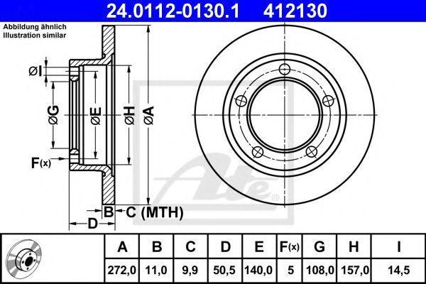 Диск тормозной ATE 24011201301