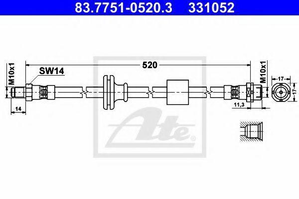 Шланг тормозной ATE 83775105203