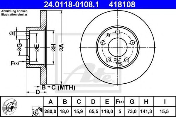 Диск тормозной ATE 24011801081