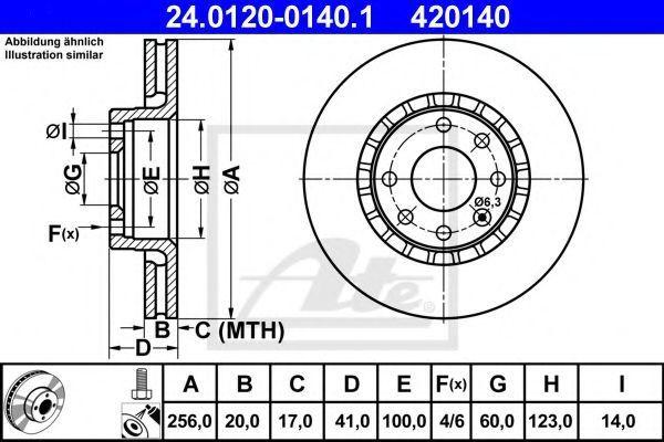 Диск тормозной ATE 24012001401