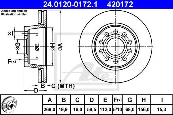 Диск тормозной ATE 24.0120-0172.1