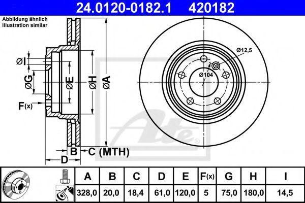 Диск тормозной ATE 24.0120-0182.1