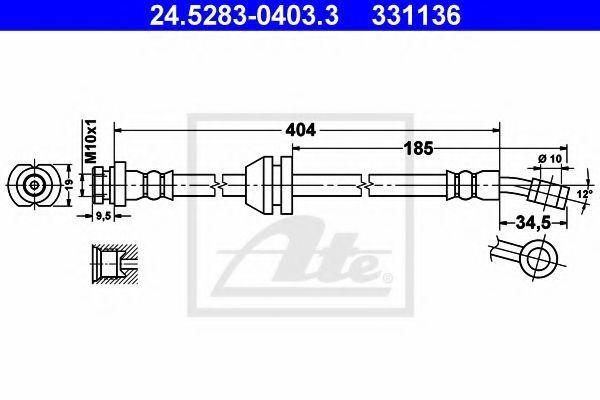 Тормозной шланг ATE 24528304033