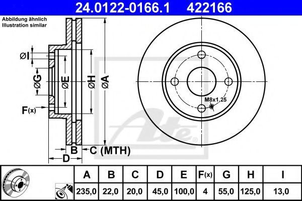 Диск тормозной ATE 24012201661