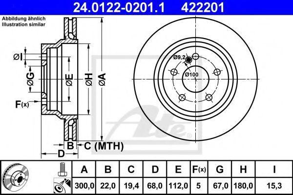 Диск тормозной ATE 24012202011