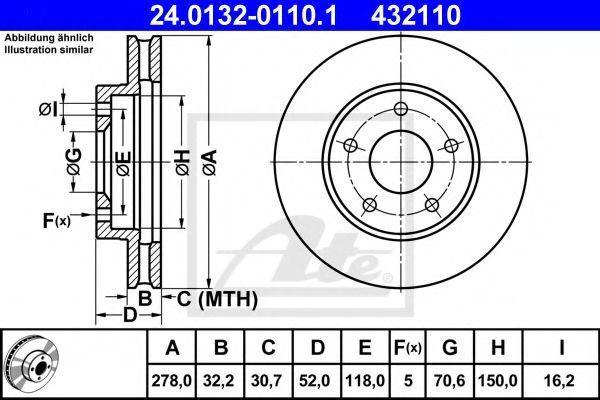 Диск тормозной ATE 24013201101