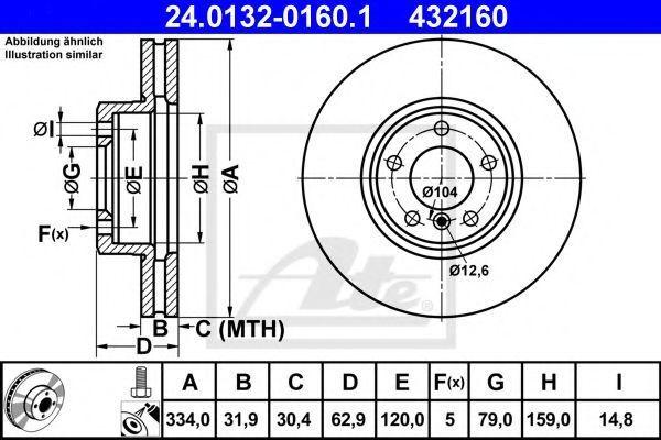 Тормозной диск ATE 24013201601