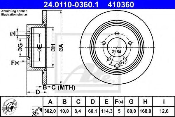 Диск тормозной ATE 24011003601