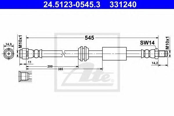 Шланг тормозной ATE 24.5123-0545.3