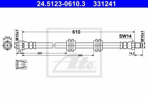 Тормозной шланг ATE 24512306103