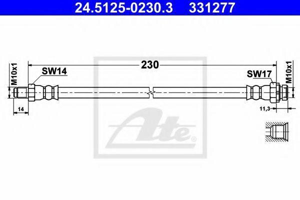 Шланг тормозной ATE 24512502303