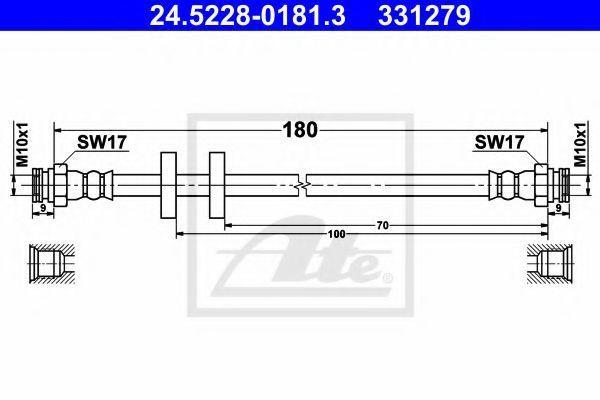 Тормозной шланг ATE 24522801813