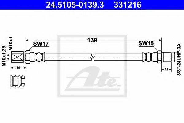 Тормозной шланг ATE 24510501393
